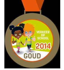 Medaille goud Verkeer op School voor web